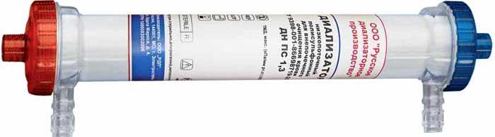 ДИАЛИЗАТОР низкопоточный полисульфонный для внепочечного очищения крови ДН ПС 1,3